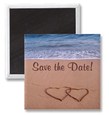 Beach theme save the date! Magnet from Zazzle.com_1243672151950