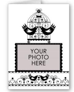 Black and White Wedding Invitation Photo Card from Zazzle.com_1243923245479