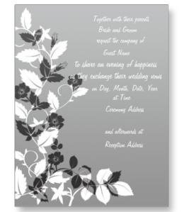 Black and White Wedding Invitation Postcard from Zazzle.com_1246083843105