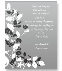 Black and White Wedding Invitation Postcard from Zazzle.com_1246083843105