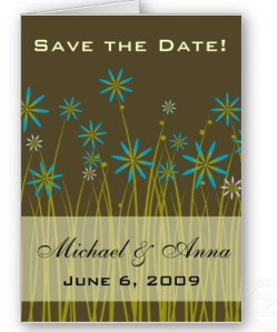 Customize Save The Date Garden Brown Tiffany Blue Card from Zazzle.com_1245392023788