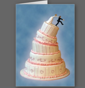 Gotcha! Wedding Invitation Card from Zazzle.com_1243877596624