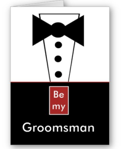Groomsman Invitation with Tux Funny Customizable Card from Zazzle.com_1245747255622