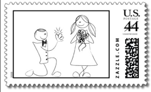 Line Drawing Bride And Groom from Zazzle.com_1244963108439