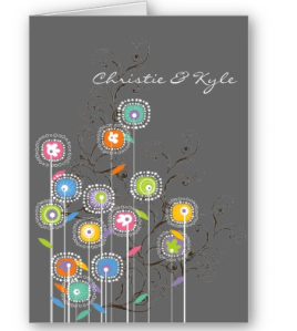 My Groovy Flower Garden Invitation - Blank - Gift Card from Zazzle.com_1245047440622