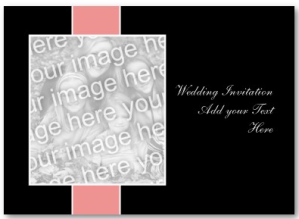 Pink on Black Wedding Invitation Business card from Zazzle.com_1245827833124