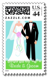 Bride & Groom - Custom Wedding Postage from Zazzle.com_1246775436230