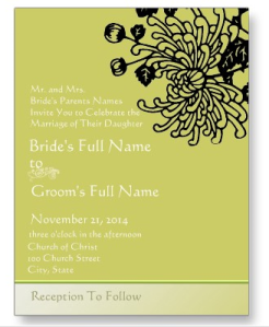 Elegant Black Vintage Flower Wedding Invitation Postcard from Zazzle.com_1248851289402