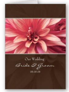 Flower Pink &Chocolate Wedding Invitation Card from Zazzle.com_1247899299291