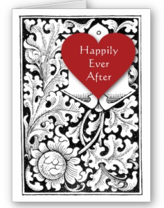 Happily Ever After Red Heart with Floral Card from Zazzle.com_1248073296512