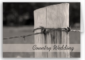Rural Fence Post Country Wedding Announcement Card from Zazzle.com_1246949740517
