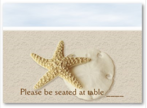 Starfish & Sand Dollar Place Card Business card from Zazzle.com_1247552056022