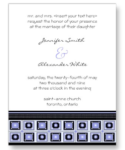 Stylish Wedding Invitation Postcard from Zazzle.com_1248242032838