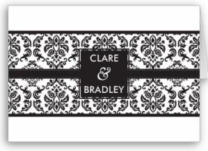 WEDDING INVITATION -- damask landscape black Card from Zazzle.com_1248675401885
