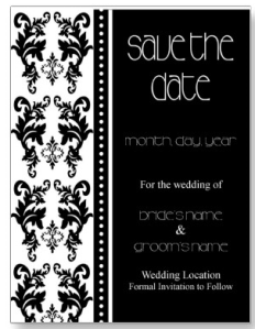 Damask Save The Date Postcard from Zazzle.com_1249625733915