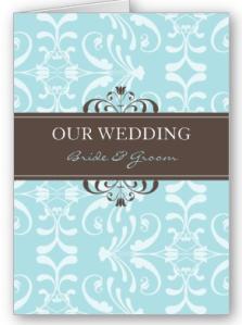DESIGN 04- Colour- Blue & Chocolate Card from Zazzle.com_1250403382404