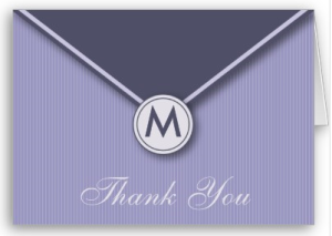 Elegant Envelope Monogram Lilac Thank You Card from Zazzle.com_1249974672818