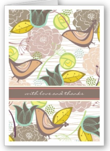 Sweet Birds Floral Pattern Thank You Photo Card from Zazzle.com_1250837246286
